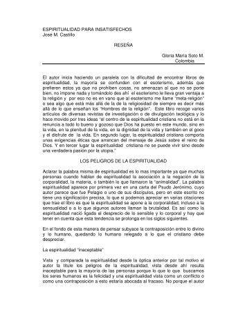 ESPIRITUALIDAD PARA INSATISFECHOS José M. Castillo ...
