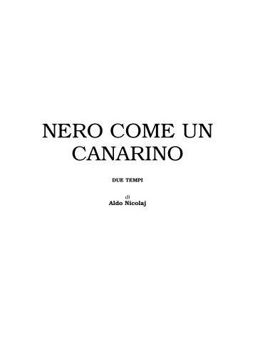 Nero come un canarino - Aldo Nicolaj