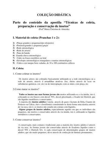 COLEÇÃO DIDÁTICA Parte do conteúdo da apostila ... - people