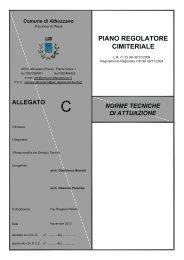 PIANO REGOLATORE CIMITERIALE - Comune di Albuzzano