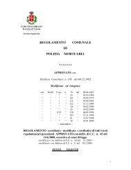 regolamento comunale di polizia mortuaria - Comune di Mirano