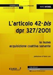 L'articolo 42-bis del dPR 327/2001 - La nuova acquisizione coattiva ...