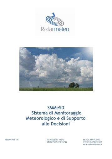 SMMeSD Sistema di Monitoraggio Meteorologico ... - Radarmeteo srl