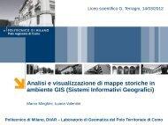 Analisi e visualizzazione di mappe storiche in ambiente GIS (Sistemi ...