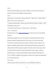 1 Titolo: Caratterizzazione fisiologica di un vigneto di Sangiovese in ...