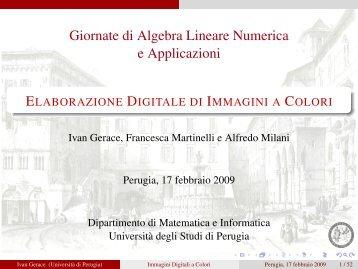 slides - Dipartimento di Matematica e Informatica - Università degli ...
