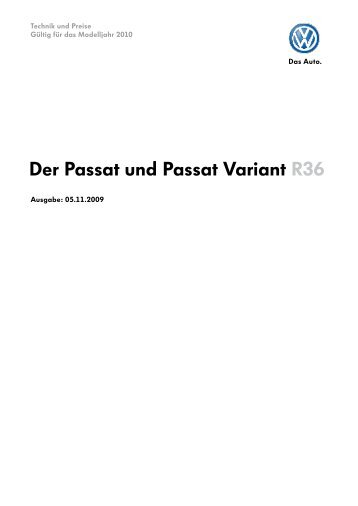 TuP Passat und Passat Variant R36 MJ2010 051109.indd