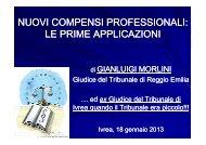 Relazione dott. Gianluigi MORLINI - Ordine degli Avvocati di Ivrea
