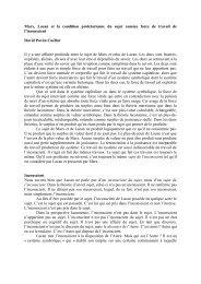 Marx, Lacan et la condition prolétarienne du sujet - Nessie