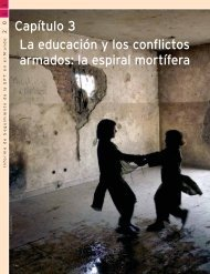 Capítulo 3 La educación y los conflictos armados: la espiral mortífera