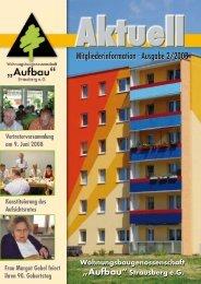 Ausgabe 2/2008 - Wohnungsbaugenossenschaft