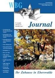WBG Journal - Wohnungsbaugenossenschaft Eberswalde