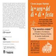 La Sera del dì di Festa - locandina - Arcipelago Adriatico
