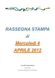 Rassegna stampa di mercoledì 4 aprile 2012 - Atap
