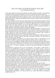 Sentiero dei Fortini, Anacapri - CAI Sezione di Napoli