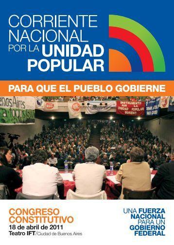 Congreso Constitutivo - Corriente Nacional por la Unidad Popular