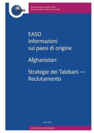 Strategie dei Talebani - EASO - Europa