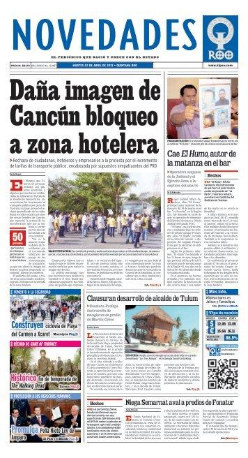 la matanza en el bar - Novedades de Quintana Roo