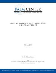 Gays in Foreign Militaries 2010 - Palm Center
