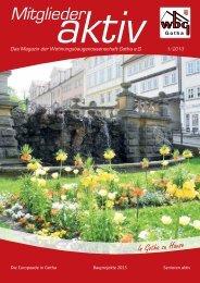 Das Frühlingsmagazin ist da! - Wohnungsbaugenossenschaft Gotha ...