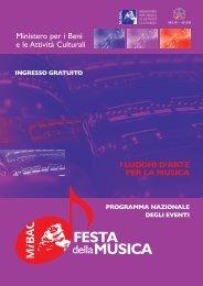 Festa della Musica 2008 - Ministero per i Beni e le Attività Culturali