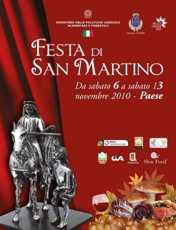 Speciale San Martino 2010 (PDF 5,47Mb) - Comune di Paese