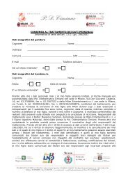Page 1 CONSENSO AL TRATTAMENTO DEI DATI PERSONALI ...