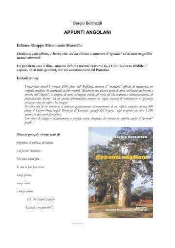 APPUNTI ANGOLANI - Gruppo Missionario Muratello