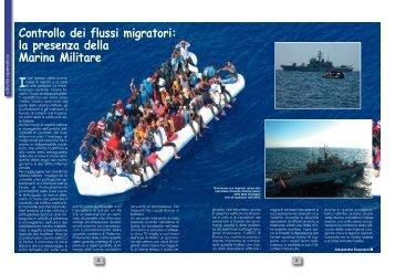 Controllo dei flussi migratori: la presenza della Marina Militare