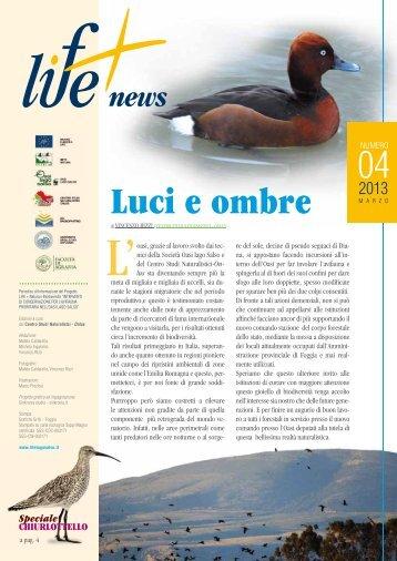 Luci e ombre - progetto LIFE + Natura e Biodiversità 2007