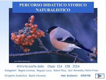 percorso didattico - storico - naturalistico - IC Valnegra