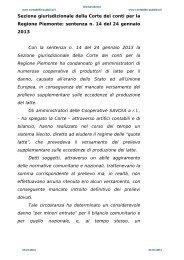 Sent. n. 14 del 24/01/ 2013 - Contabilità Pubblica