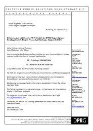 DEUTSCHE PUBLIC RELATIONS ... - KALTWASSER Kommunikation