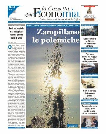 Zampi l lano le polemiche - La Gazzetta dell'Economia