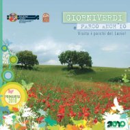 Scarica il catalogo Giorniverdi [ 11959 Kb ] - Parchi Lazio.it