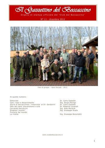 N. 11 Dicembre 2012 - Club del Beccaccino
