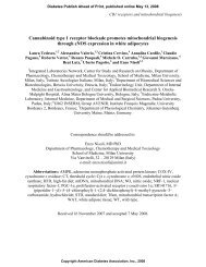 The cannabinoid CB1 receptor antagonist rimonabant up ... - Diabetes
