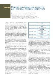 L'abuso di farmaci nel paziente con cefalea: possibili indicatori - Simg