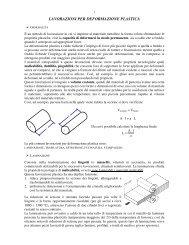 LAVORAZIONI PER DEFORMAZIONE PLASTICA - Pesenti