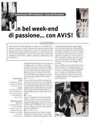 Un bel week-end di passione… con AVIS! - AVIS Comunale Milano