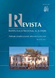 interviul nostru - Institutul Naţional al Justiţiei