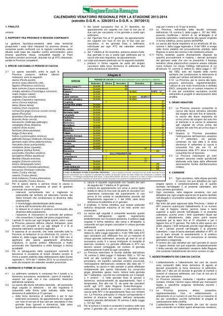 Calendario Venatorio Lombardia.Calendario Venatorio Regionale Per Ermes Agricoltura