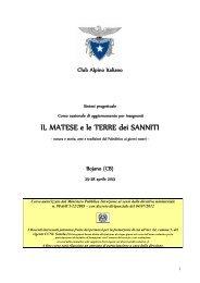 IL MATESE e le TERRE dei SANNITI - Club Alpino Italiano