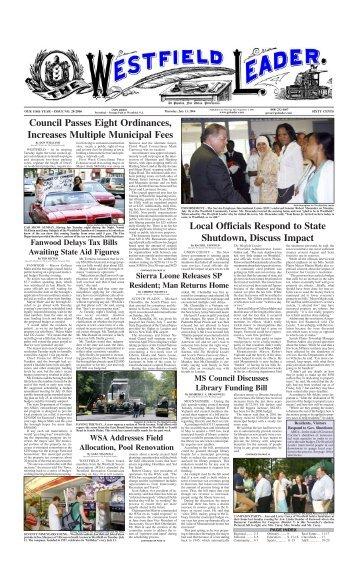 06jul13 newspaper - The Westfield Leader