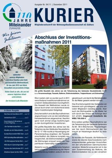 Ausgabe 2011/4 - WBG Südharz