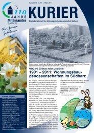 WBG-Kurier (Ausgabe 2011/1)