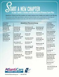 in your family's history with AtlantiCare Primary Care Plus.