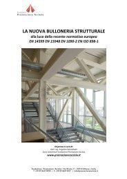 la nuova bulloneria strutturale - Fondazione Promozione Acciaio