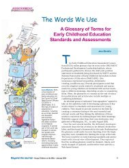 A Glossary of Terms for Early Childhood Education Standards and ...