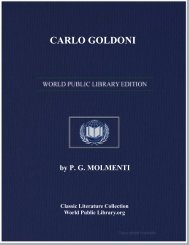 CARLO GOLDONI - World eBook Library